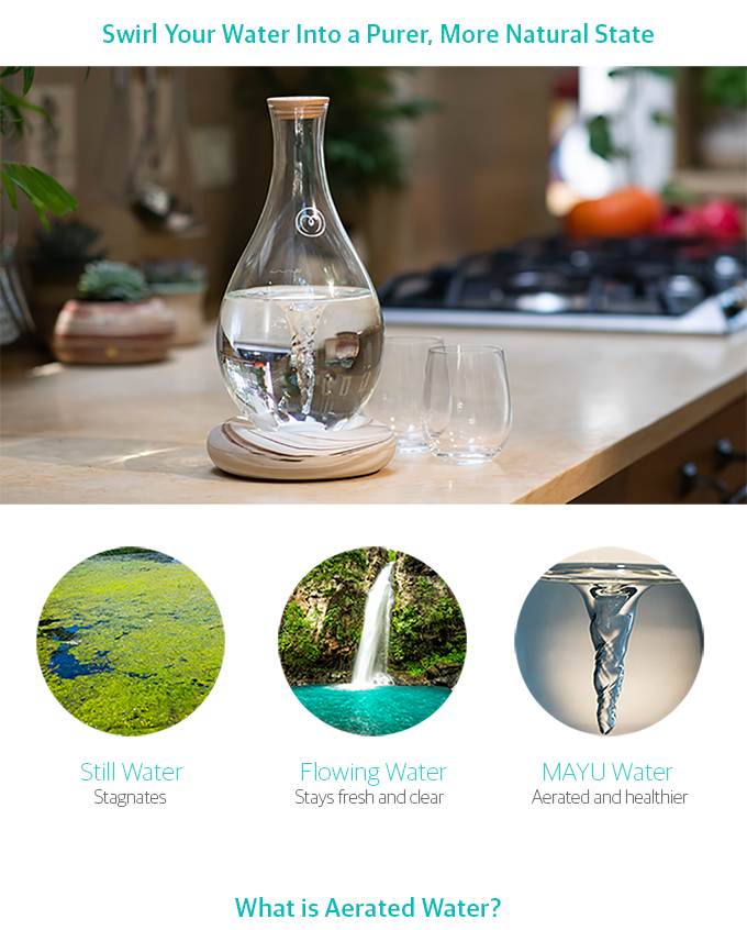 MAYU |Keep Your Water Healthy with a Natural Swirling Motion by MAYU