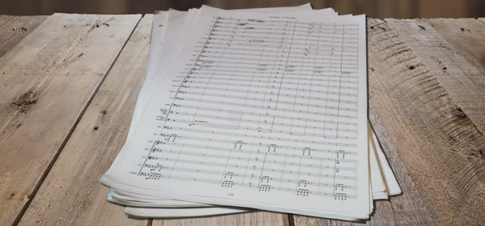 Full Score sheet music (picture for illustrative purposes only.)
