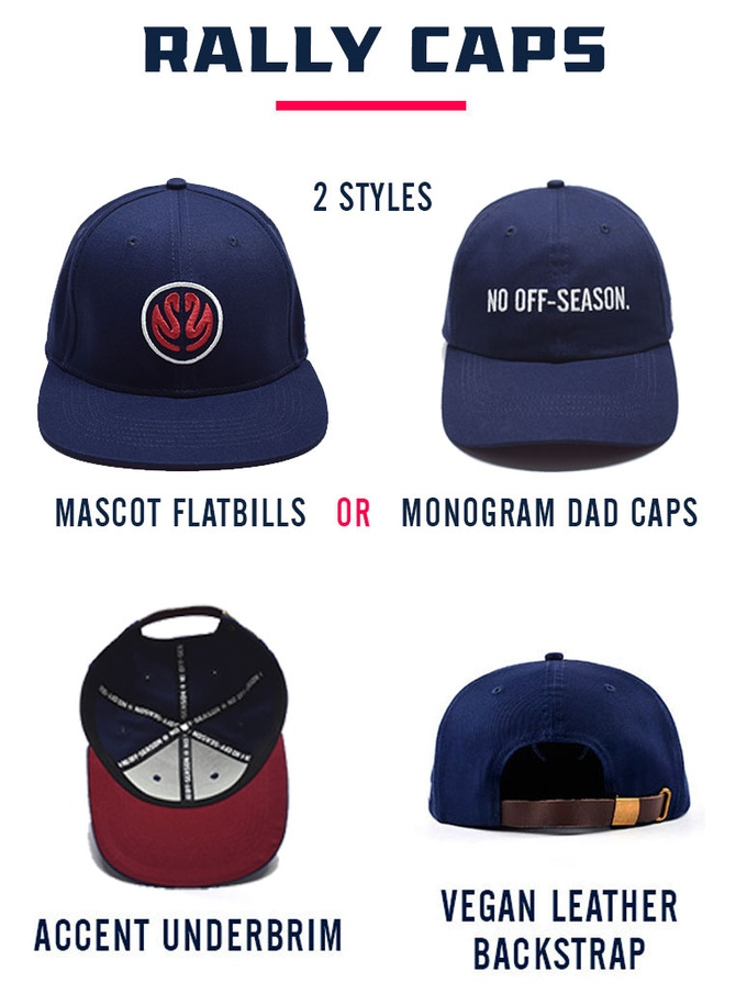 Mascot Flatbills vs Monogram Dad Caps