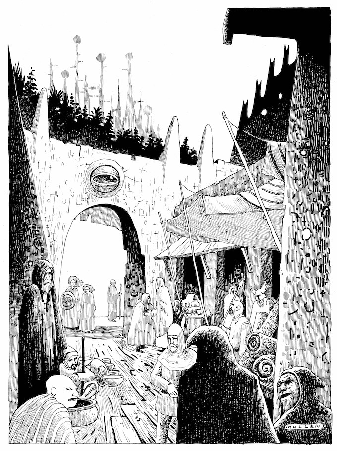 Hyperborea Players' Manual art by Peter Mullen