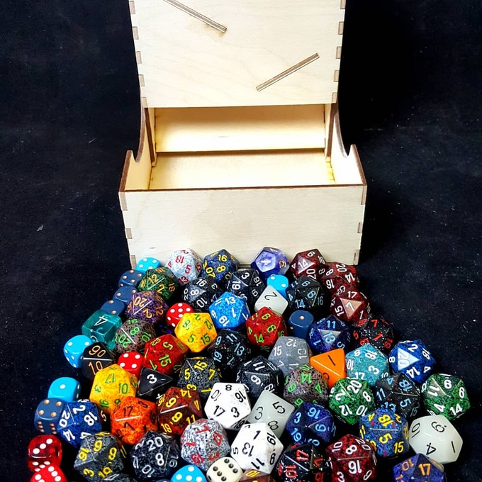 This is the actual amount of dice this tower will hold