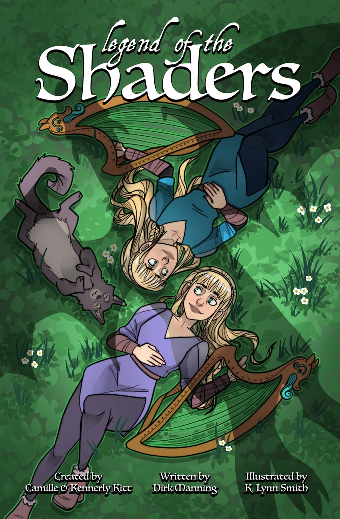Legend of the Shaders - Harp Twins Comic! by Camille and