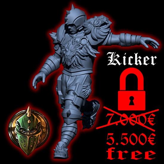 Kicker, the last reinforcement