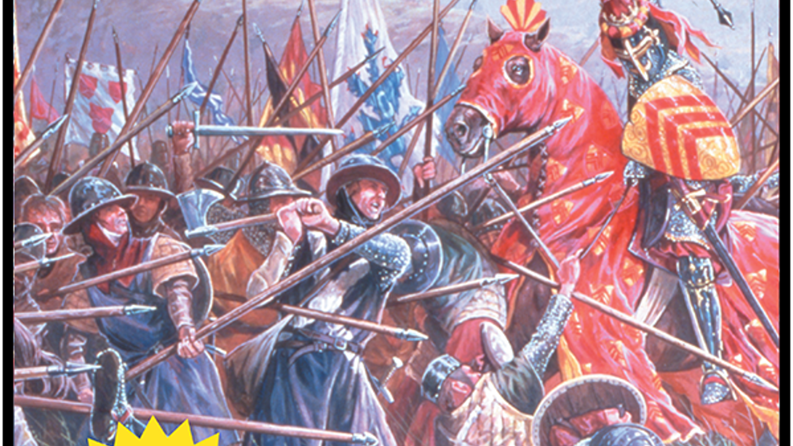 A new, deluxe version of the board game classic, Hammer of the Scots by Columbia Games.