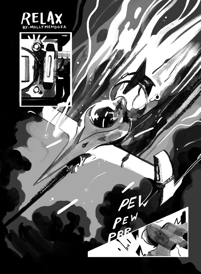 Page from Molly Mendoza's 'Relax'
