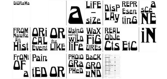 LOGOTYPE No.1 LEGIBILITY: [Bet] est un caractère aux formes monstrueuses et difformes, une hybridation stylistique des polices de caractères du XIXe siècle