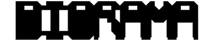 DIORAMA LOGOTYPE No.2 GEOMETRIC CITY: Pour le logo du deuxième numéro, il s'agira de [Mesh], le caractère dessiné pour le jeu vidéo.