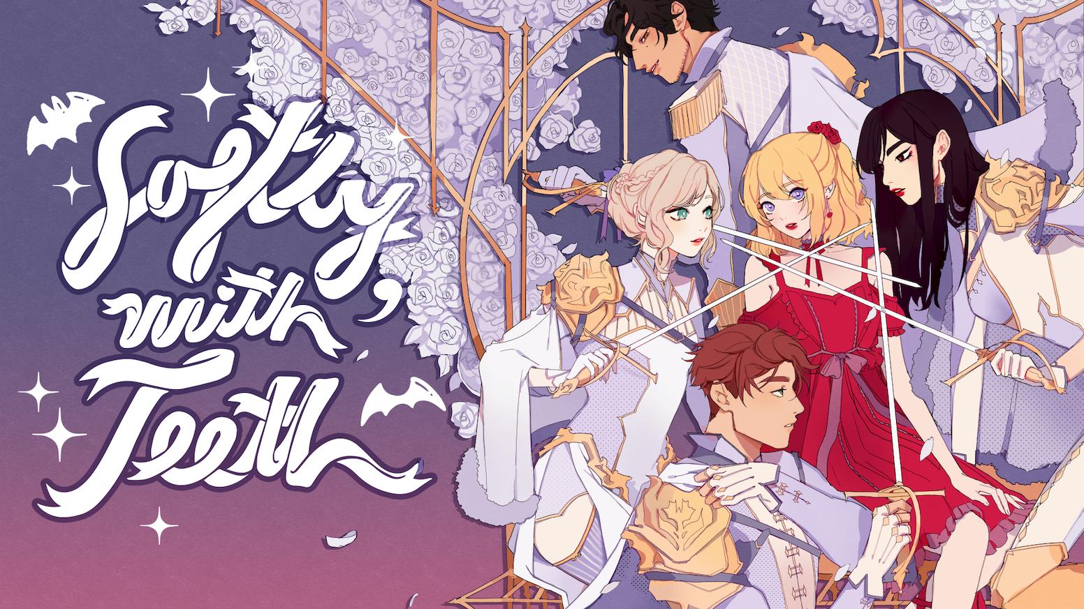 Softly, With Teeth: A Vampire Otome + Yuri Visual Novel by
