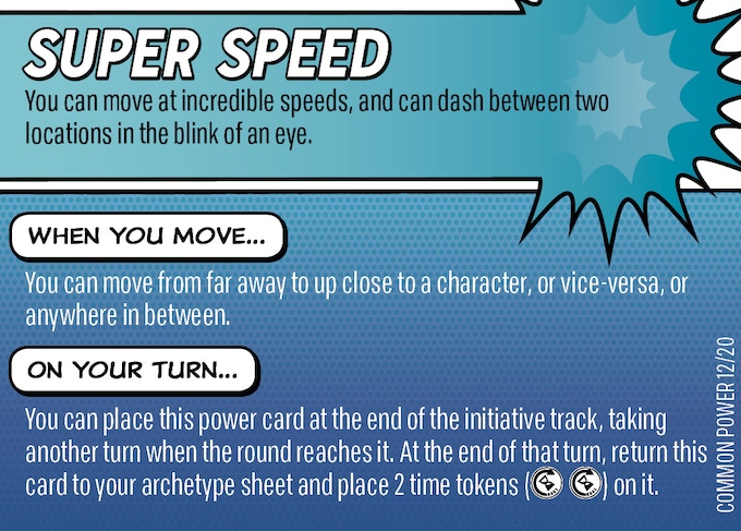 The Super Speed power card from the Deck of Powers