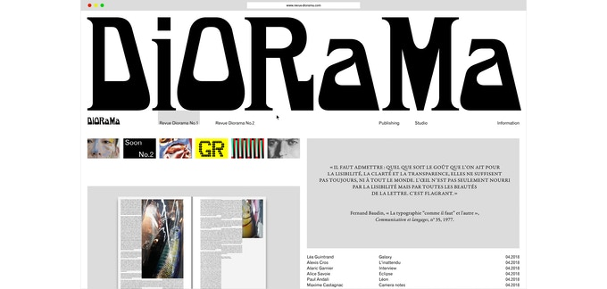DIORAMA DIGITAL : REVUE / PUBLISHING / TYPE FOUNDRY by REVUE