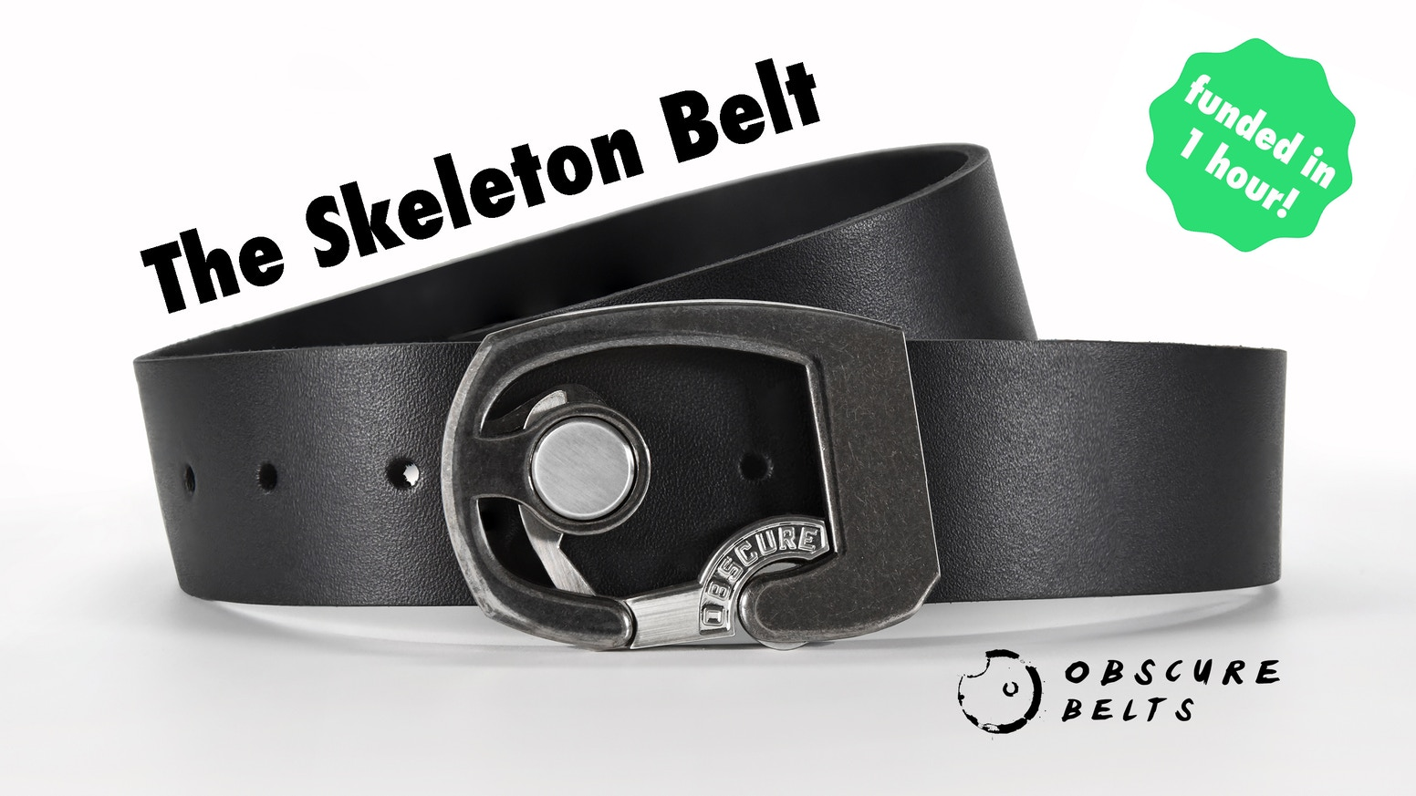 Modern quick-release buckle design with premium full-grain leather, no belt flap, and tons of style. 3rd Kickstarter by Obscure Belts.