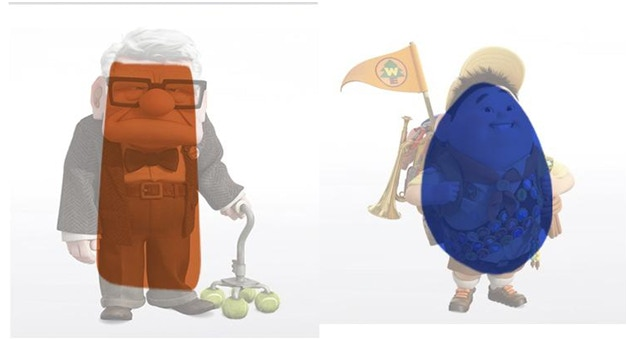 Character shapes from Pixar's UP.