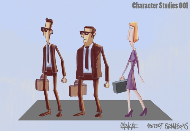 Early OFF GRID character concepts.