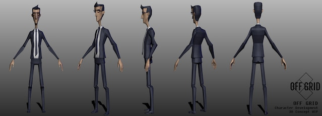 The 3D model for Joe that brought together all the early concepting work.