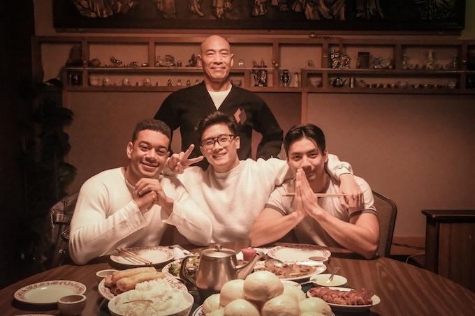 Clockwise from top: Roger Yuan (Sifu Cheung), Yoshi Sudarso (Danny), Peter Sudarso (Hing), Gui Da Silva-Greene (Jim)