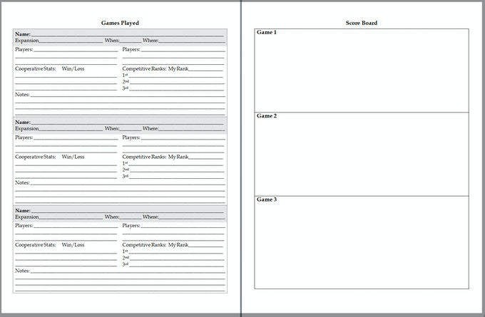 300 Page Journal - Standard Game Play Pages