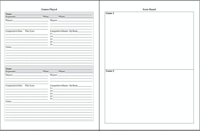 300 Page Journal - Expanded Game Play Pages
