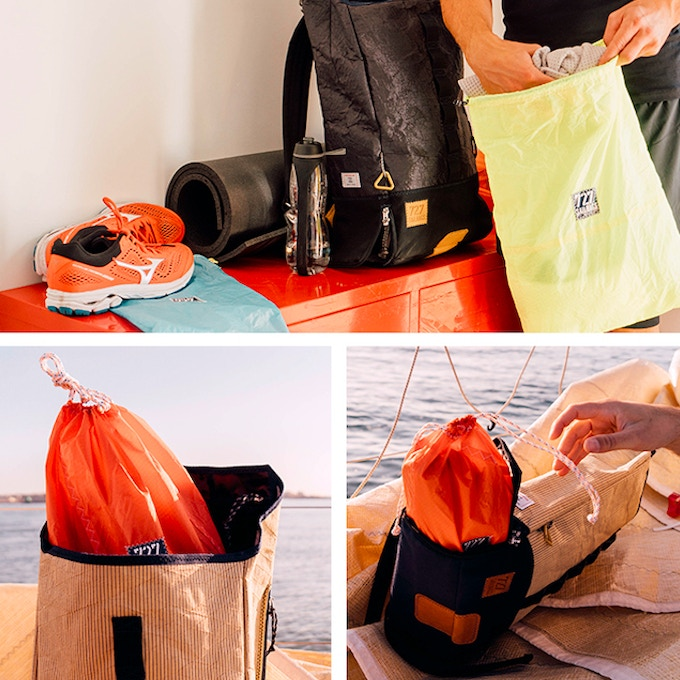 Clothes and Shoe Bags in recycled Spinnaker.
