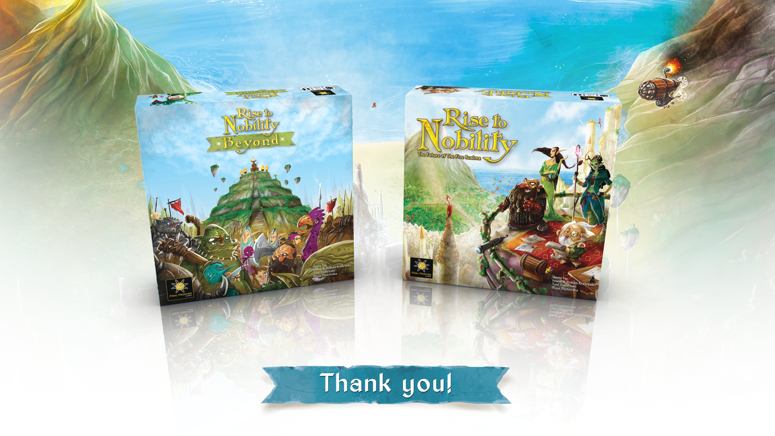 Expansion to the highly successful Kickstarter Rise to Nobility.