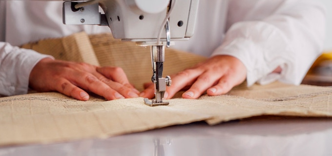 We sew our products in our workshop.