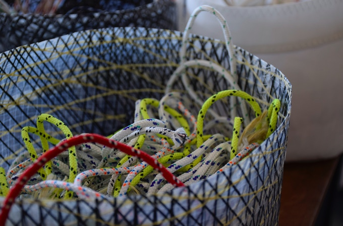 We collect and upcycle also ropes.