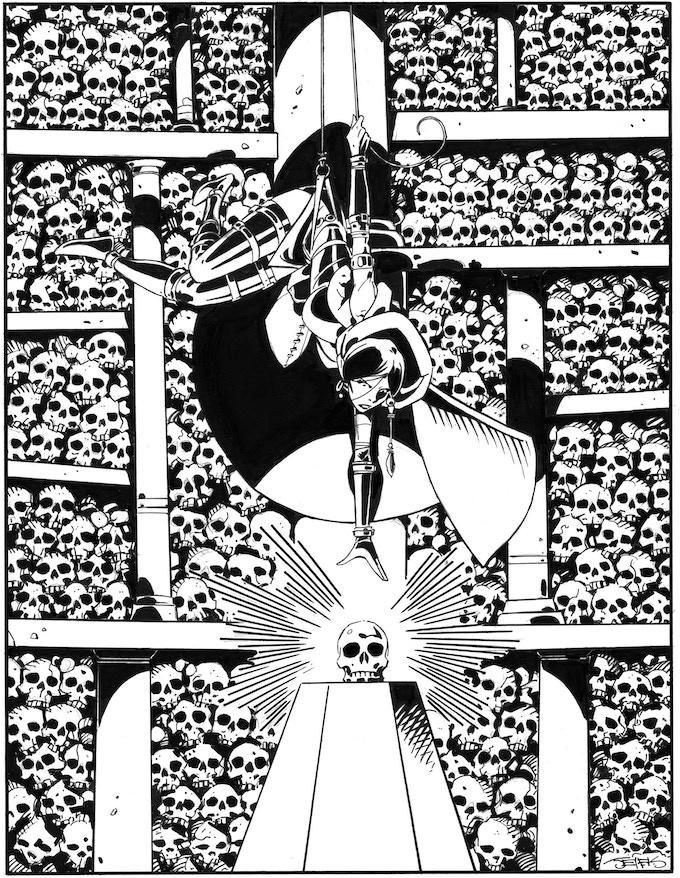 Hyperborea Players' Manual Art by Val Semeiks