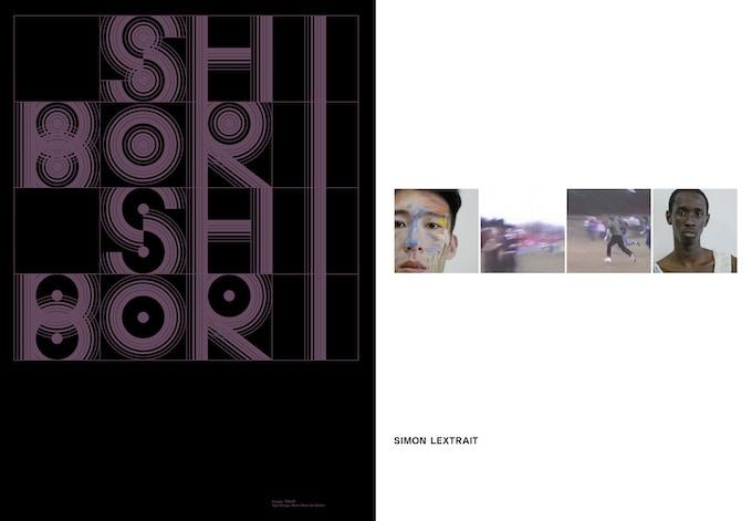 Typedesign: Marie-Mam Sai Bellier pour Simon Lextrait (Logotype + Shibori), dans R.D. No.1, Legibility (rubrique publicité).