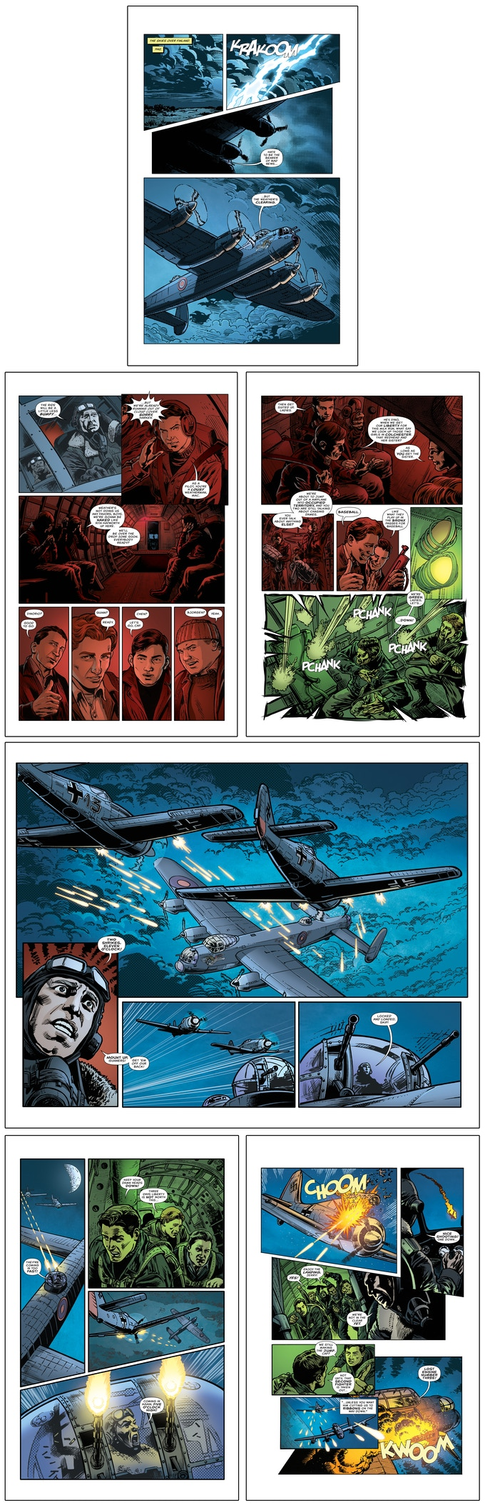 Harken's Raiders Pages 1-7, created by Allen Cordrey, Ron Marz, and Darryl Banks