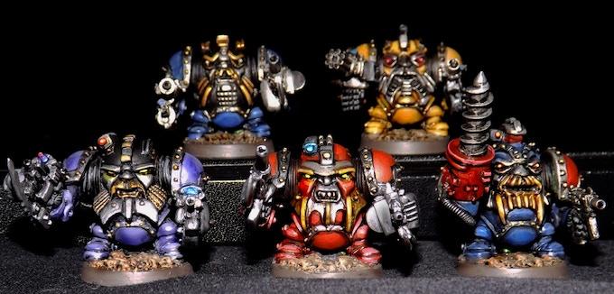 Power Exo Armoured Dwarves - set B