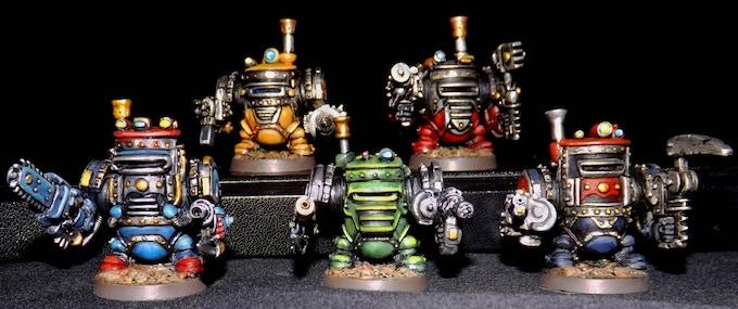 Steamer Exo Armoured Dwarves - Set A
