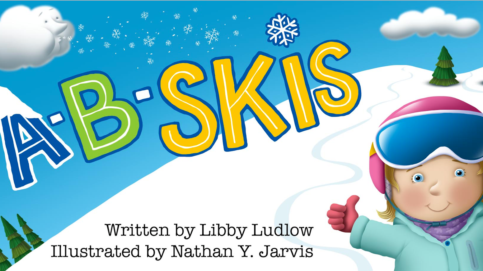 A children's alphabet book about the magical world of skiing
