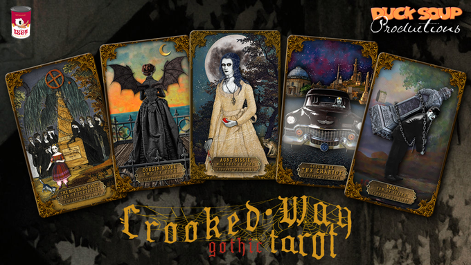 A true Occult deck with a black Gothic heart.