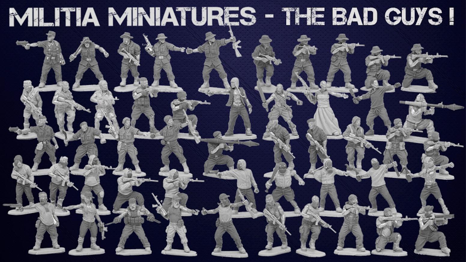 militia miniatures the bad guys by leon pengilley kickstarter