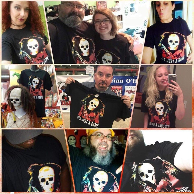 """[Photos of Cast, Crew & Friends with the """"Skullgirl"""" t-Shirt]"""