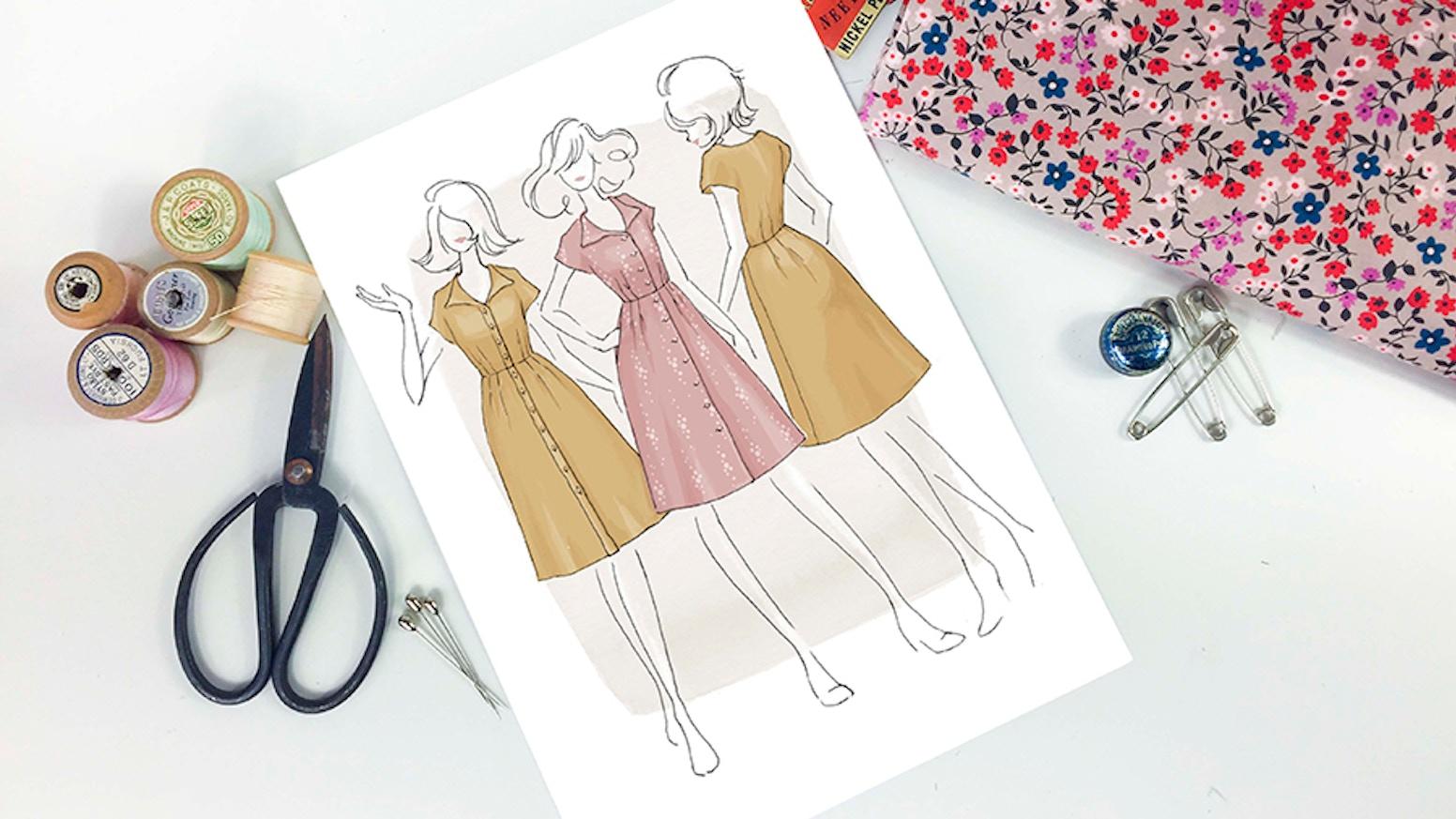 The Sorrel Dress by Jennifer Lauren - Paper Sewing Patterns by Jen ...