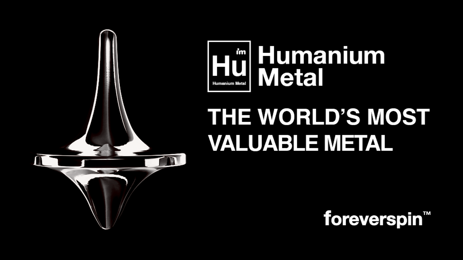 Foreverspin Humanium Metal Spinning Top - The World's Most Valuable Metal