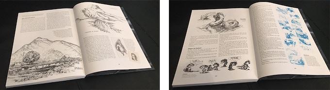 Förutom de 15 Valhall-albumen är de fem böckerna fyllda med bonusmaterial, bland annat 1200 skisser och teckningar.