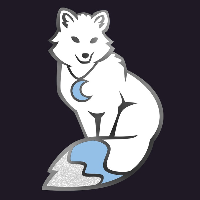 """BONUS PIN: Arctic Fox. Preview of my upcoming series """"First Frost."""""""