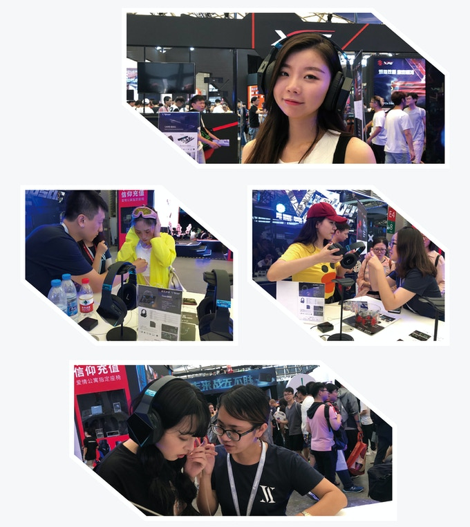 Customers experience CAVE GH51 Pro on China Joy Exhibition 2018.