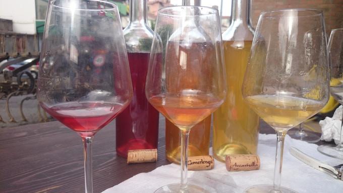 Natural wine colours: Camerlengo, Basilicata