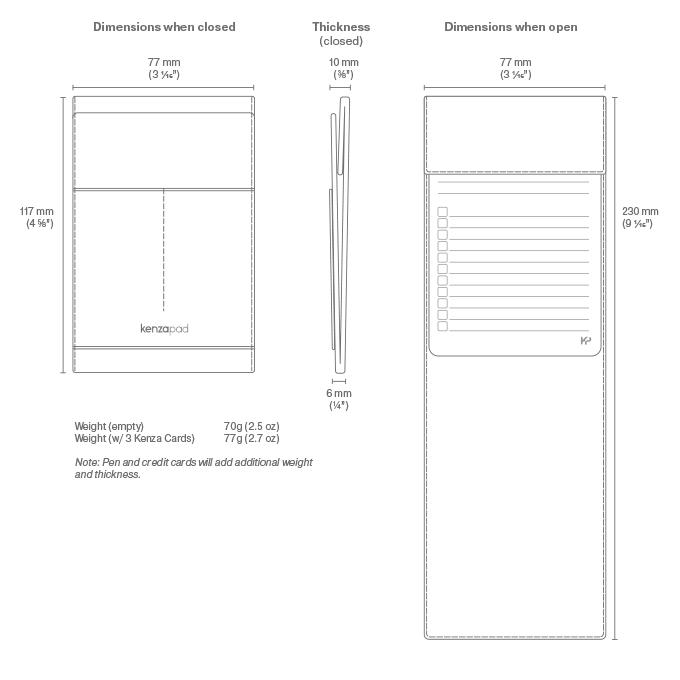 KenzaPad dimensions