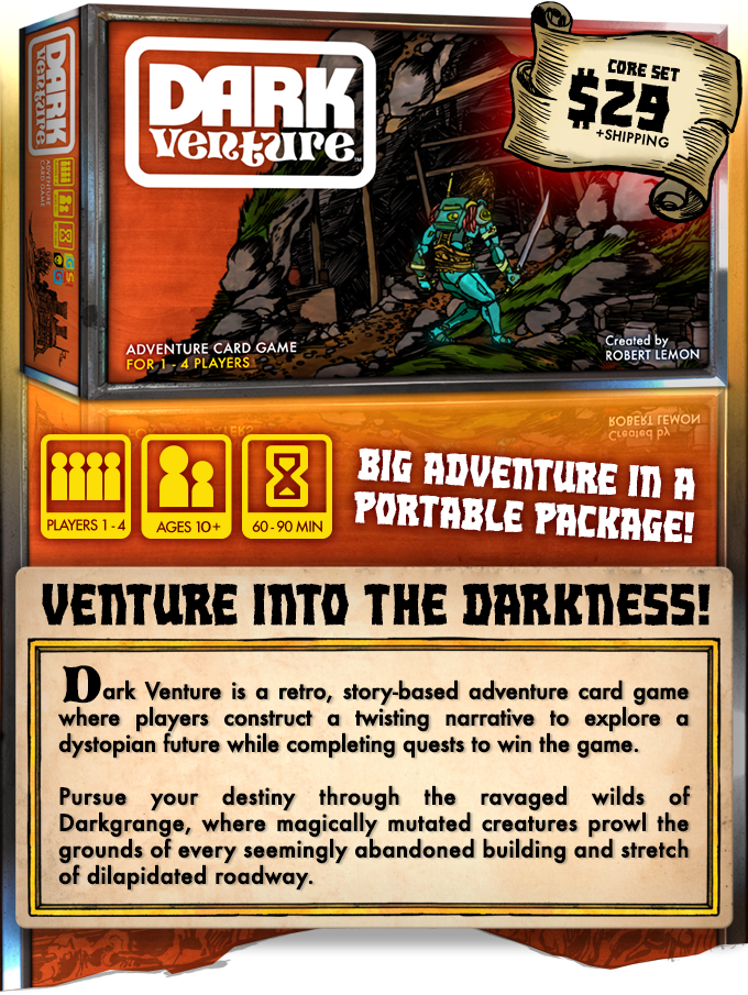 Dark Venture: An Adventure Card Game