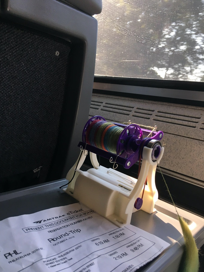 Spinning on the train