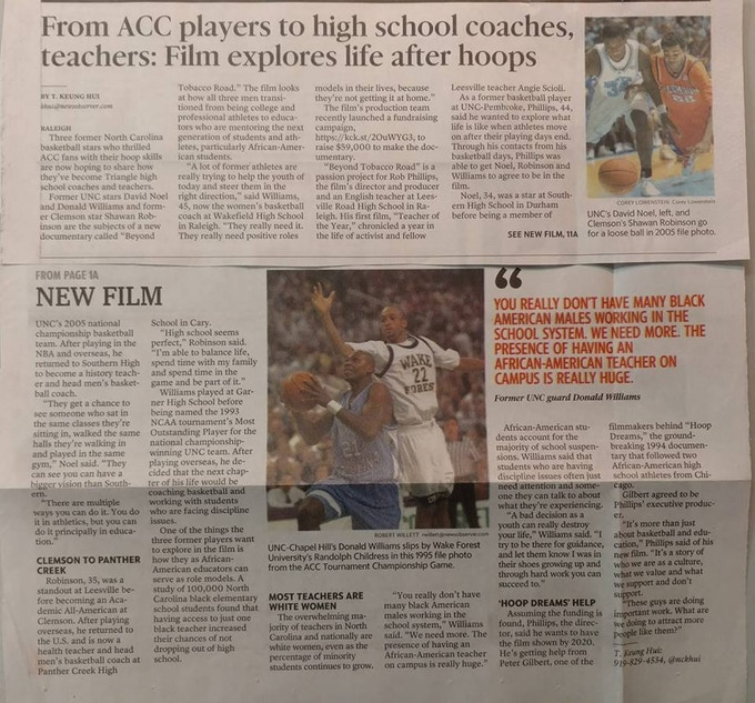 From the front page of the News & Observer, October, 21 2018