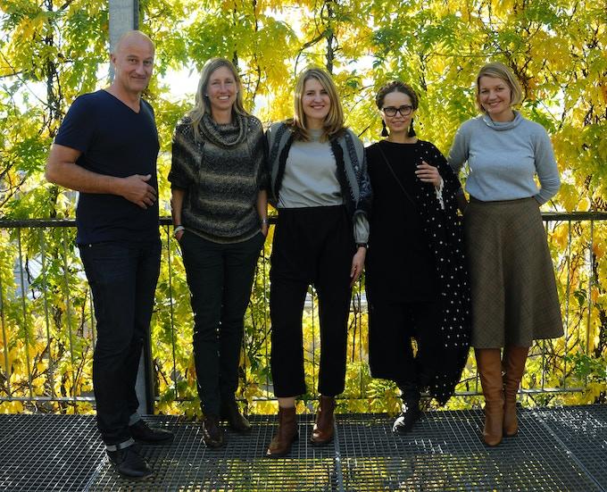 Cervo Volante founding team. From left to right Marc Fischer (first employee), Conny Thiel Egenter (Co-CEO), Kadri Vunder Fontana (Co-CEO), Piret Puppart (Designer), Margit Vunder (Operations)