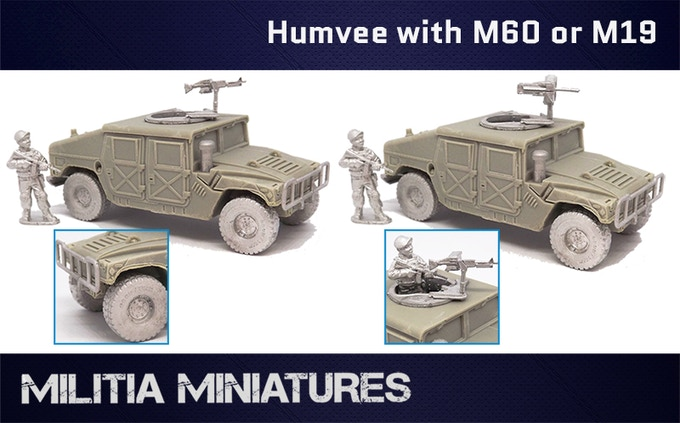 Humvee with either M60 machine gun and M19 grenade launcher