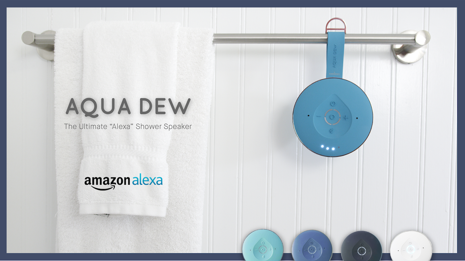 A powerful, splashproof speaker featuring Alexa voice technology for your shower and home.