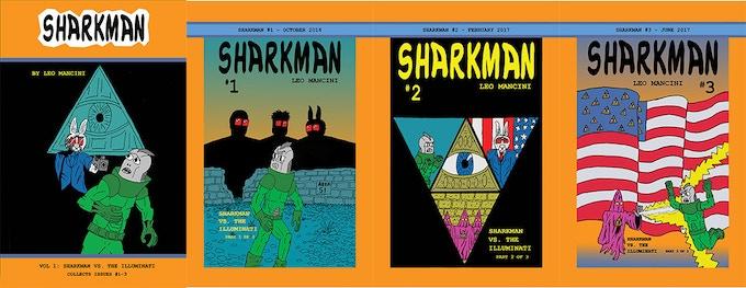 Sharkman #1-3 covers