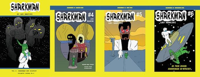 Sharkman #4-6 covers