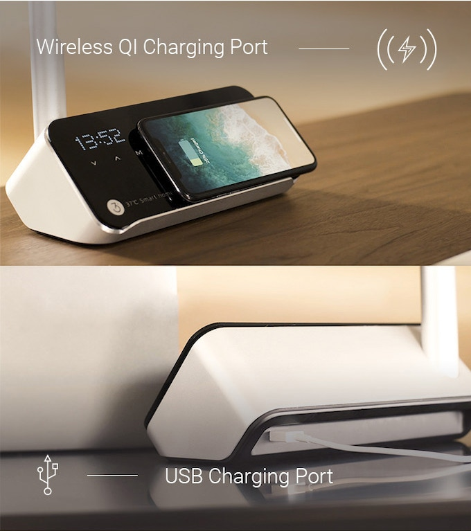 Charging can only be used when the Smart Lamp is plugged into a power source